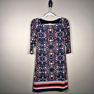 Vince Camuto 3/4 Sleeve Print Shift Dress